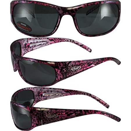 BlueWater Polarized Bahama Mama 3B Sunglasses Pink Frames Smoke (Bahama Sunglasses)
