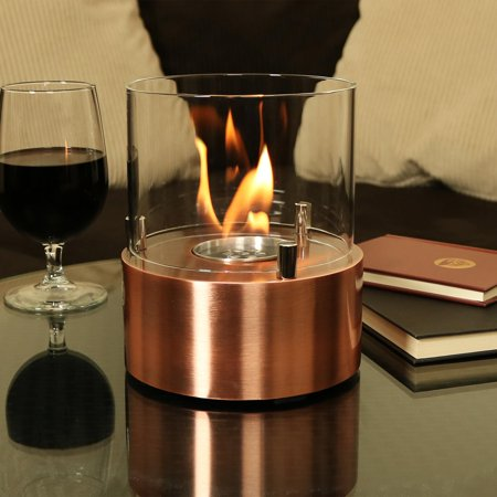 Sunnydaze Tre Poli Tabletop Fireplace Indoor Ventless Bio