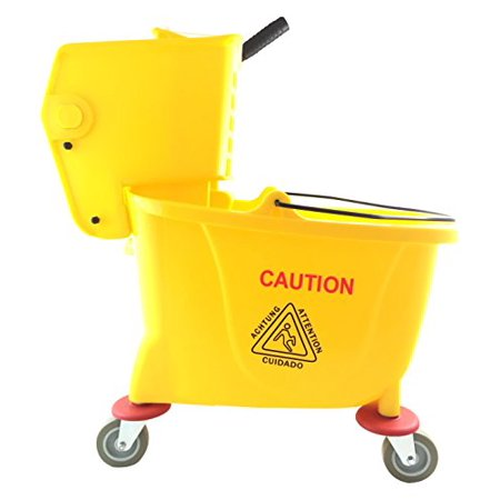 Abco Products 35 Qt. Mop Bucket/Wringer T01007 Bucket Pail & Wringer, Yellow