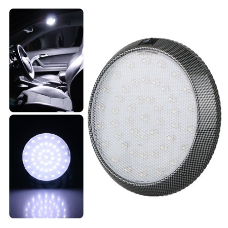 Universal Dome - DC12V 46-LED Universal Car Roof Ceiling Dome Interior White Light Round Reading Lamp