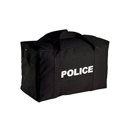 Rothco Canvas Large Police Logo Gear Bag, Black
