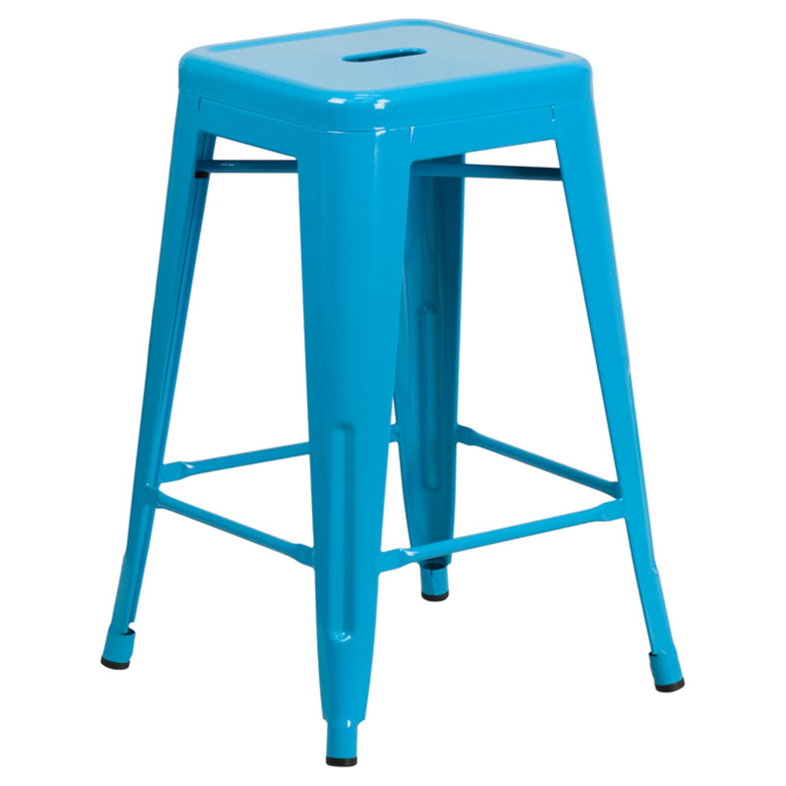 Flash Furniture 24'' High Backless Indoor-Outdoor Counter Height Stool, Multiple Colors