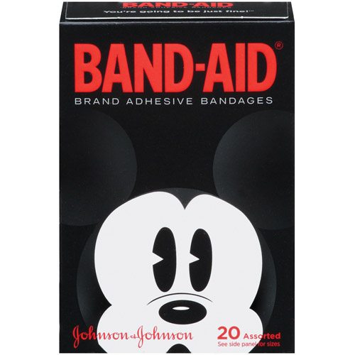 Band-Aid Brand Adhesive Bandages Collector's Series featuring Disney Mickey Mouse, Assorted Sizes, 20 Count
