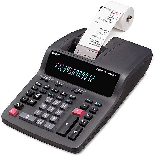 Casio FR2650TM Compact Desktop Printing Calculator