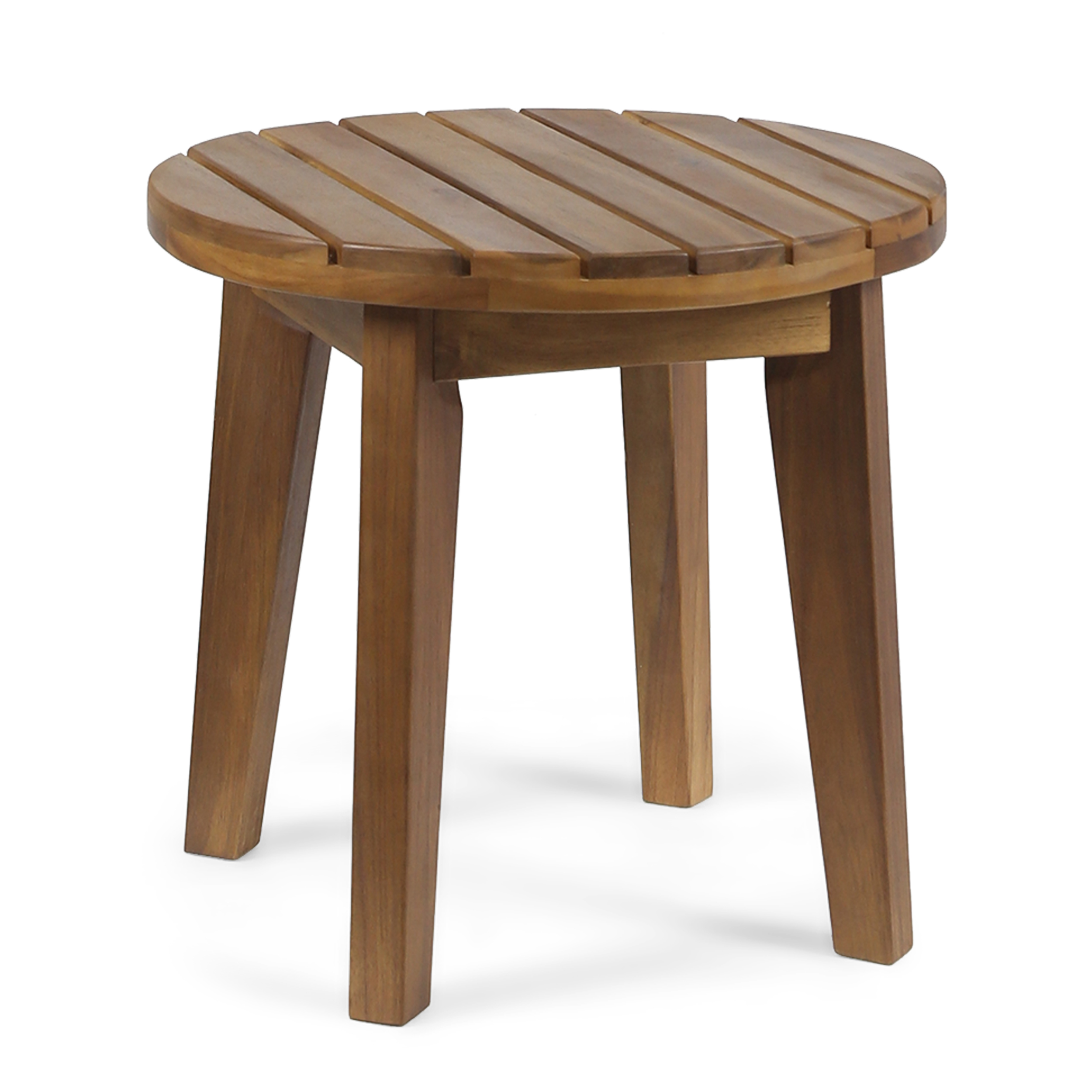 """Parker Outdoor 16"""" Acacia Wood Side Table, Teak Finish by GDF Studio"""