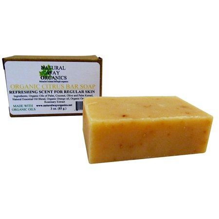 Organic Citrus Bar Soap (Best Way To Get Rid Of Soap Scum On Tile)