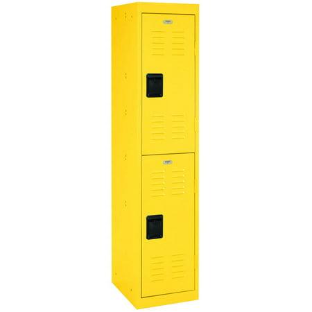 - Sandusky 2-Tier Welded Steel Storage Locker, 66