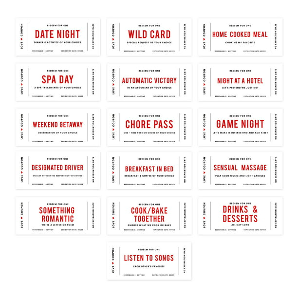 Valentines day coupons for boyfriend