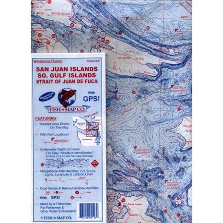 Fish-n-Map: San Juan Islands / So. Gulf Islands / Strait of Juan de