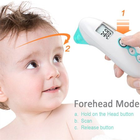 Baby Thermometer - Forehead and Ear Thermometer for Fever - Accurate Dual Mode Basal Medical Digital Body Infrared Thermometers for Baby,Kids,Infant,Toddler and Adult - Temporal