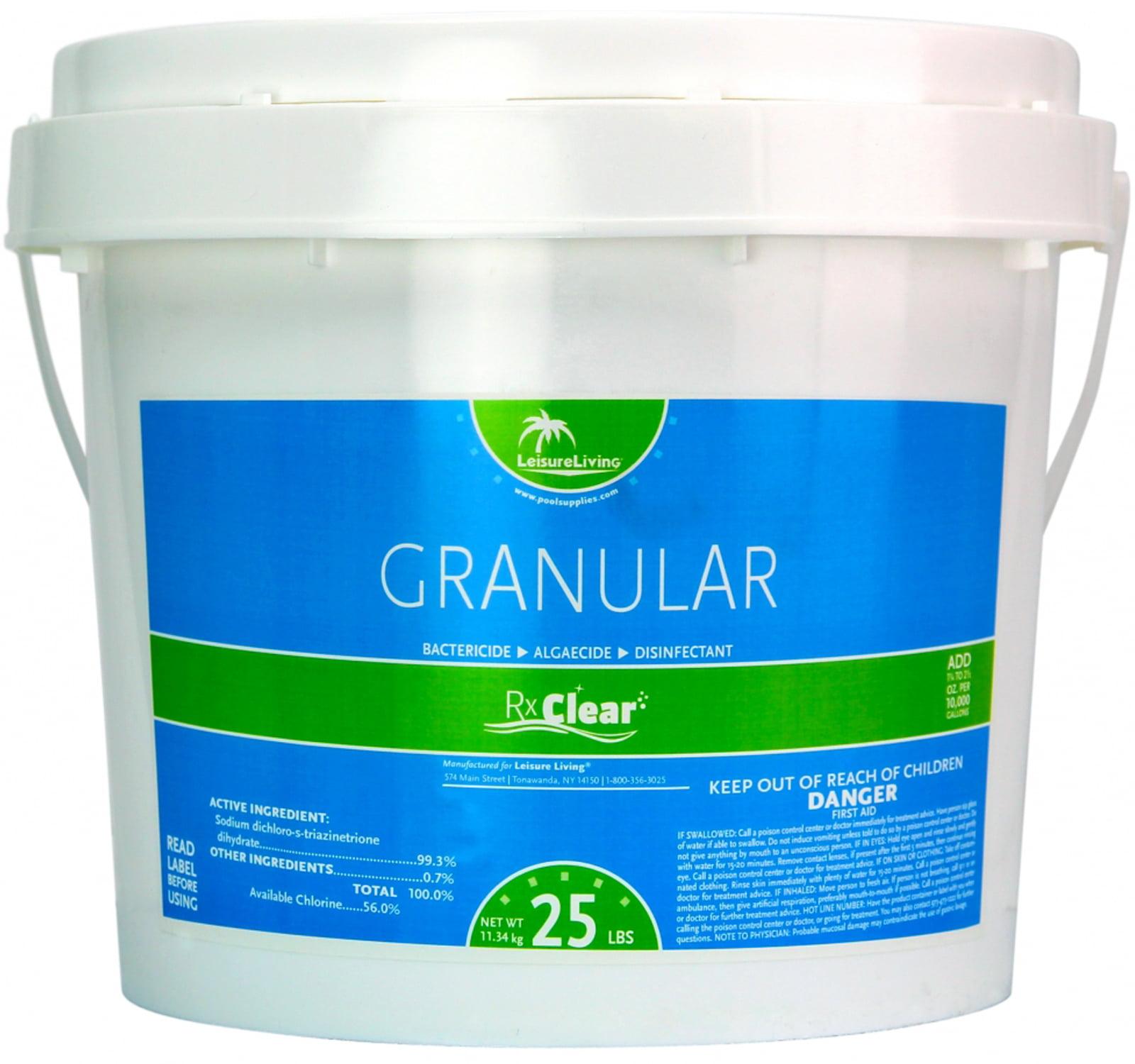rx clear 99 3 sodium di chlor granular swimming pool chlorine