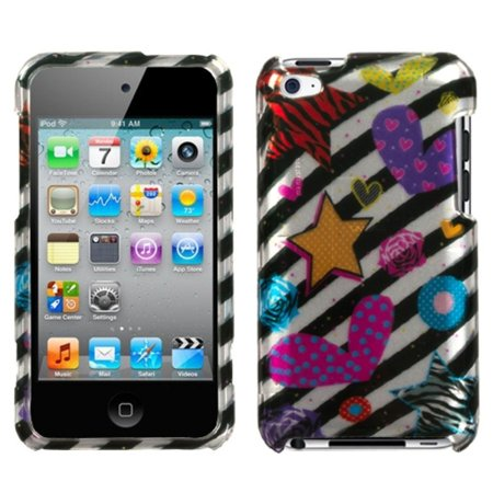 27 Ipod Color Matched - Insten Color Heart (2D Silver) Phone Case For iPod Touch 4