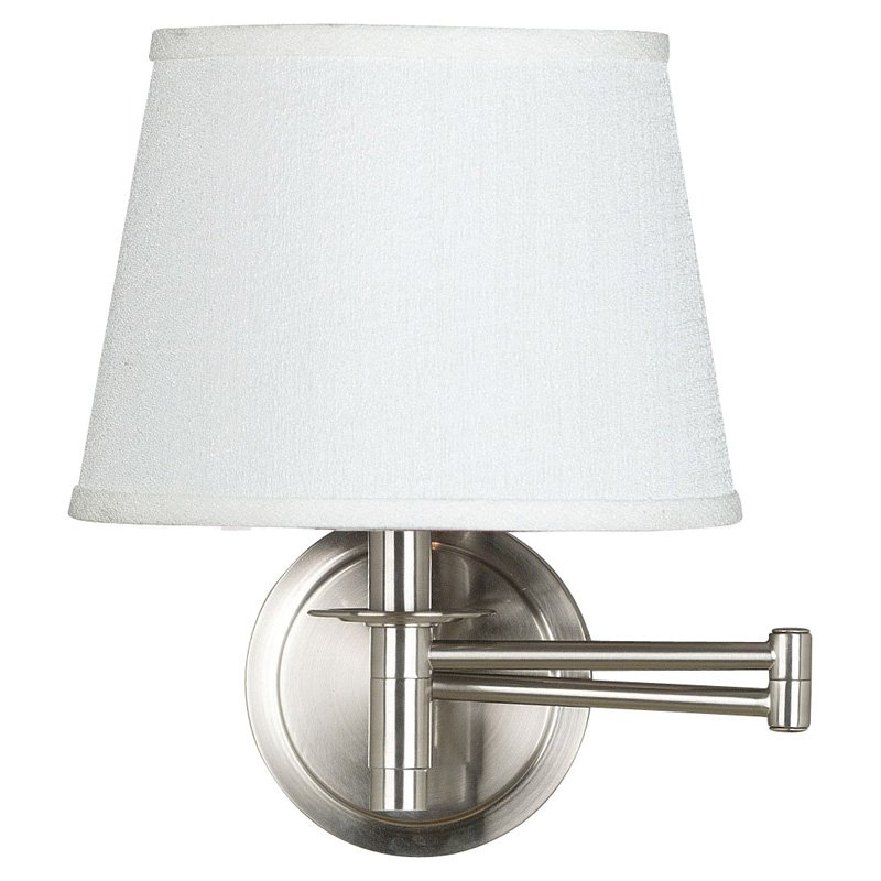 Kenroy Home Sheppard Wall Swing Arm Lamp 20W in. Brushed Steel by Kenroy Home