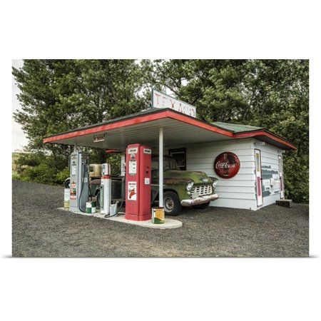 Great Big Canvas Scott Stulberg Poster Print Entitled Vintage Texaco Gas Station In The Palouse  Washington