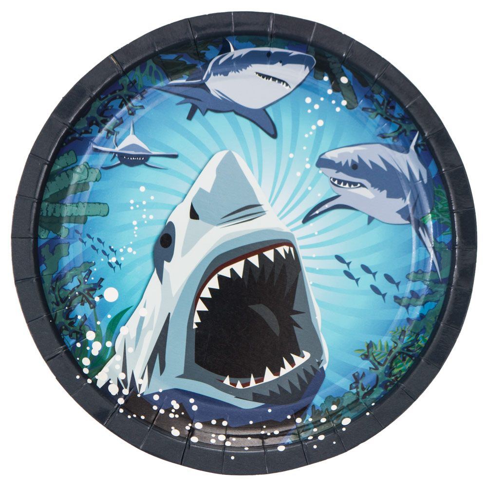 Shark Party Cake Plate (8 Pack) - Party Supplies