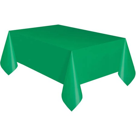 Green Plastic Party Tablecloth, 108 x 54in - Plastic Tablecloths Cheap