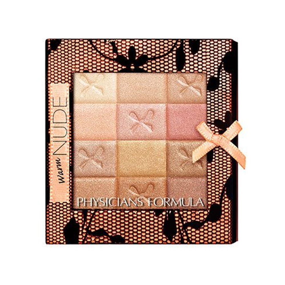 (6 Pack) PHYSICIANS FORMULA Shimmer Strips All-in-1 Custom Nude Palette for Face & Eyes - Warm Nude