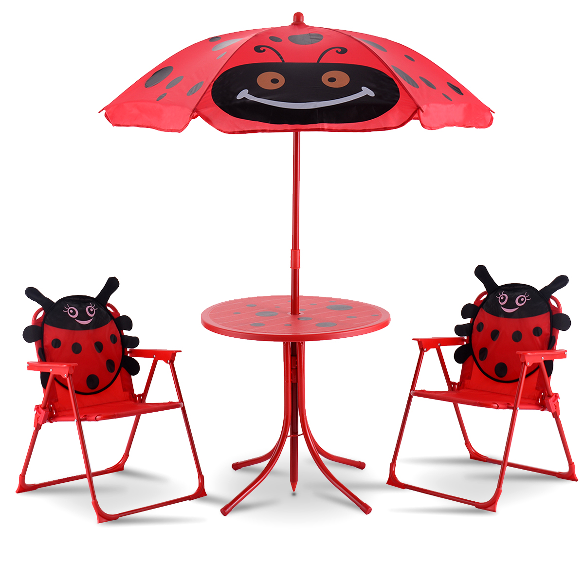 Product Image Costway Kids Patio Set Table And 2 Folding Chairs w/ Umbrella Beetle Outdoor Garden Yard  sc 1 st  Walmart & Kidu0027s Outdoor Furniture - Walmart.com - Walmart.com