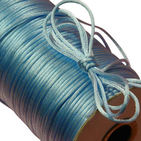 100 yards Satin Rattail Cord 2mm shamballa nylon macrame kumihimo string ()