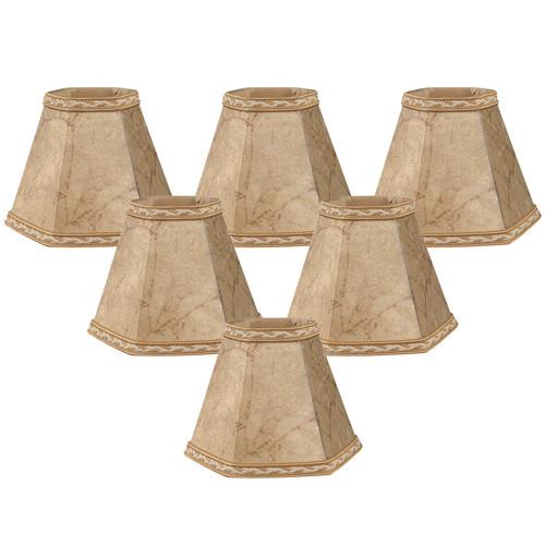 Royal Designs Hexagon Chandelier Lamp Shade Mouton Set Of 6 Size 5 Cs 117mt 6