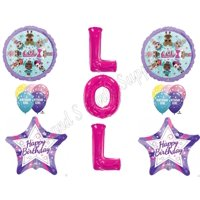 """PINK XL 34"""" LETTERS LOL Birthday Balloons Decoration Supplies"""