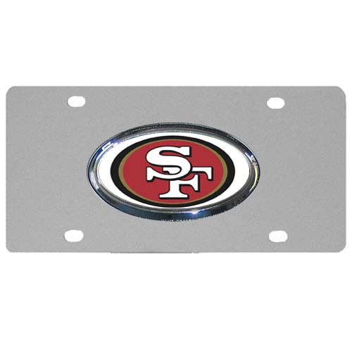 San Francisco 49ers Official NFL Metal License Plate by Siskiyou 790904