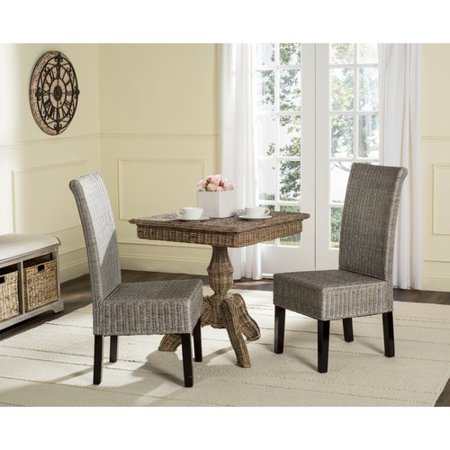 Safavieh Arjun Wicker Dining Chair, Multiple Colors, Set of 2 ()