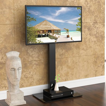 Fitueyes Floor Tv Stand With Swivel Mount For 32 To 55
