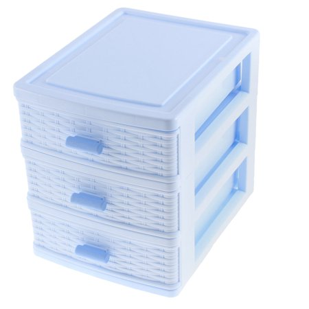 Unique Bargains Plastic 3 Layers Underwear Socks Cosmetic Jewelry Drawer Container Organizer Box (Drawer Organizer Jewelry)