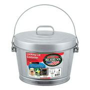 Behrens 4 gal. Galvanized Steel Garbage Can Lid Included Animal Proof/Animal Resistant