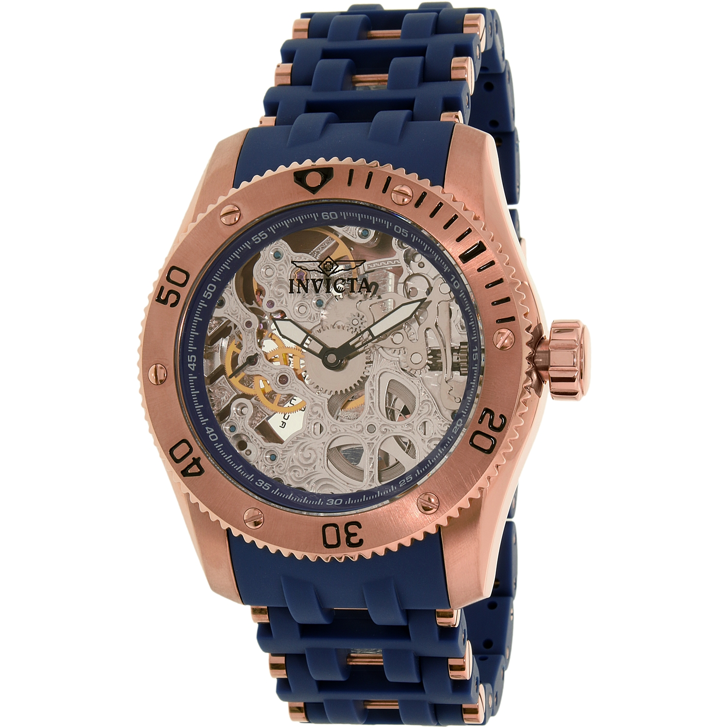 Invicta Men's Sea Spider 80131 Rose Gold Polyurethane Swiss Automatic Watch