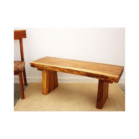 Haussmann Natural Edge Bench 48 In X 17-20 X 18 In H Kd Oak