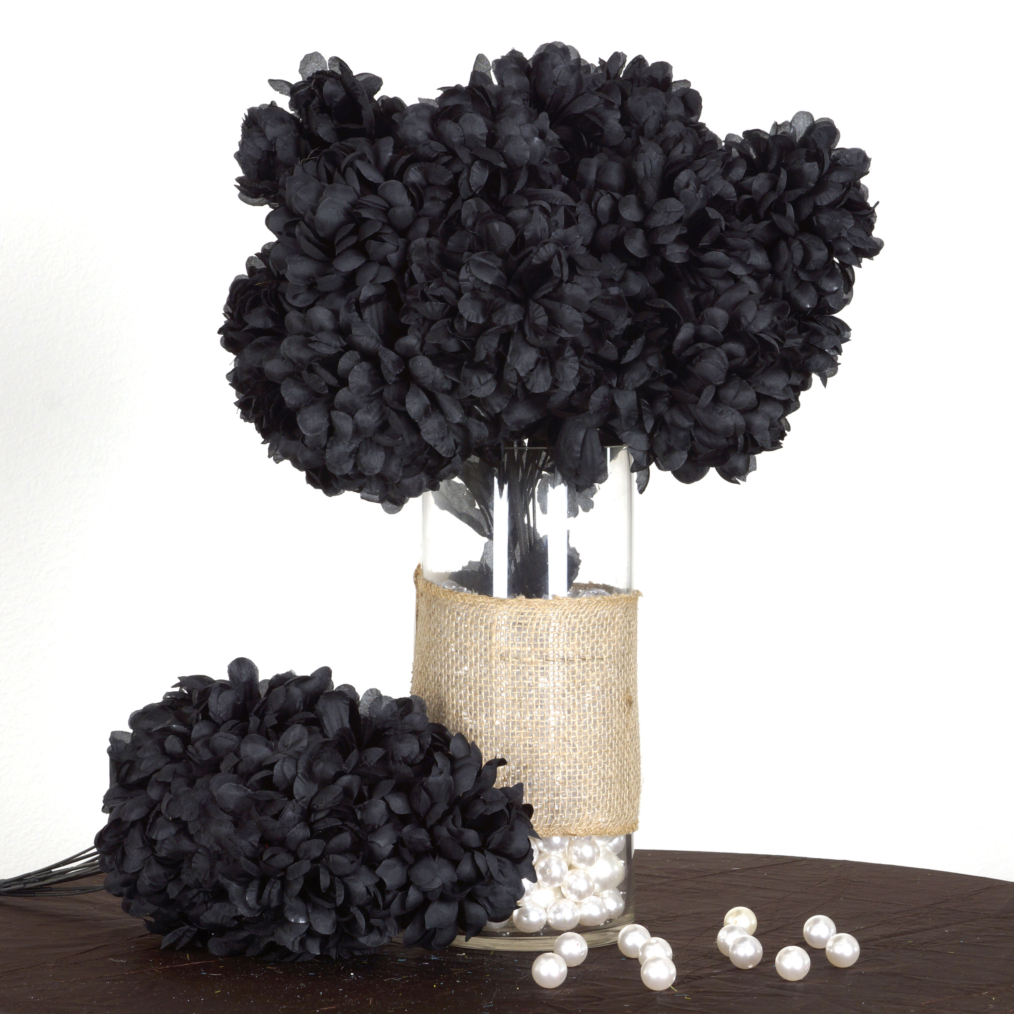 BalsaCircle 56 Large Chrysanthemum Mums Balls Silk Flowers - DIY Home Wedding Party Artificial Bouquets Arrangements Centerpieces