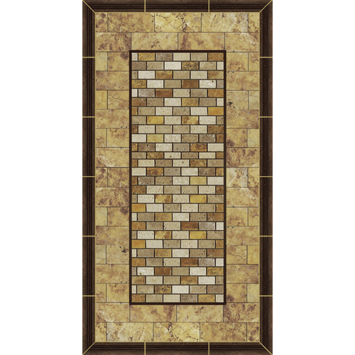 No Slip Mat by Versatraction Kahuna Grip Stone Picture Frame 2 Shower Mat