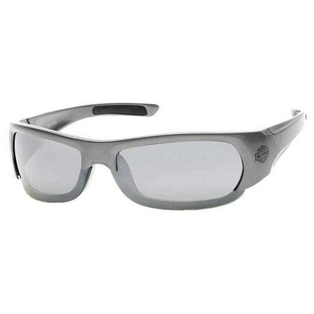 Harley-Davidson Mens Injected Bar & Shield Sunglasses, Gray Frames ...