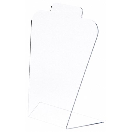 Plymor Brand Acrylic Basic Tall Necklace Display Stand