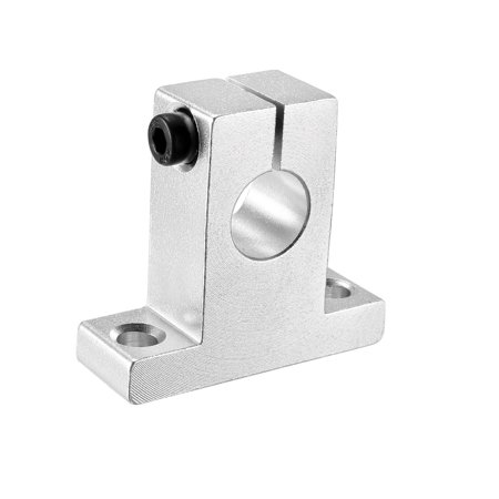 Uxcell SK12 Aluminum Linear Motion Rail Clamping Rod Rail Guide Support for 12mm Dia Shaft Hardware