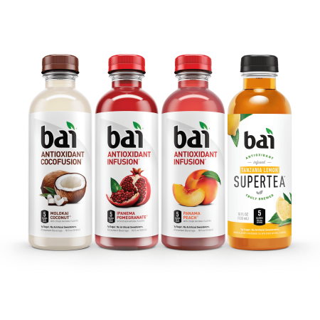 Bai Antioxidant Infused Beverage, Mountainside Variety Pack, 18 Fl Oz, 12 Count