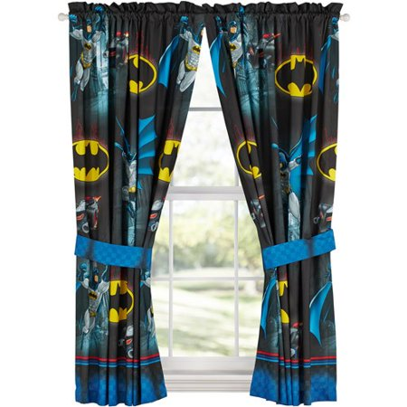 Warner Brothers Batman \'Safe Again\' Boys Bedroom Curtain Window Panel Set