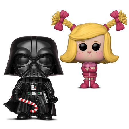 Warp Gadgets Bundle - Funko Pop Star Wars Holiday - Darth Vader w/ Candy Cane and Funko Pop Animation The Grinch Movie - Cindy Lou (2 Items) - Grinch Items