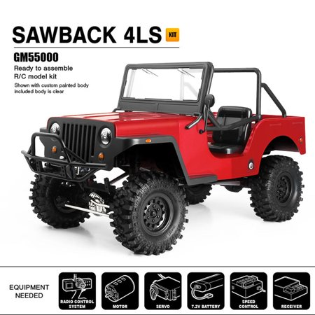 Four Wheel Drive Vehicle (Gmade Gma55000 Sawback 4Ls, Gs01 4Wd Off-Road Vehicle Kit. Truck)