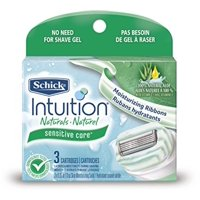 Schick Intuition Naturals Cartridges, Sensitive Care 3 ea (Pack of 3)