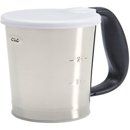OXO Good Grips Flour Sifter, 3-Cup, Stainless Steel