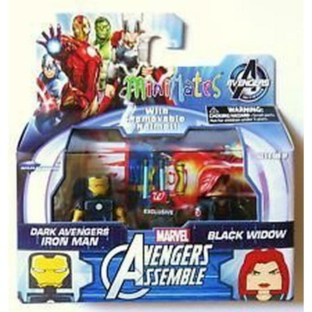 Marvel MiniMates Avengers Assemble Dark Avengers Exclusive Iron Man & Black - The Avengers Black Widow
