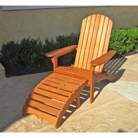 balau adirondack patio chair with footrest. Black Bedroom Furniture Sets. Home Design Ideas