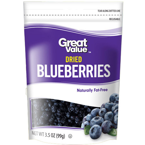 Great Value Dried Blueberries, 3.5 oz