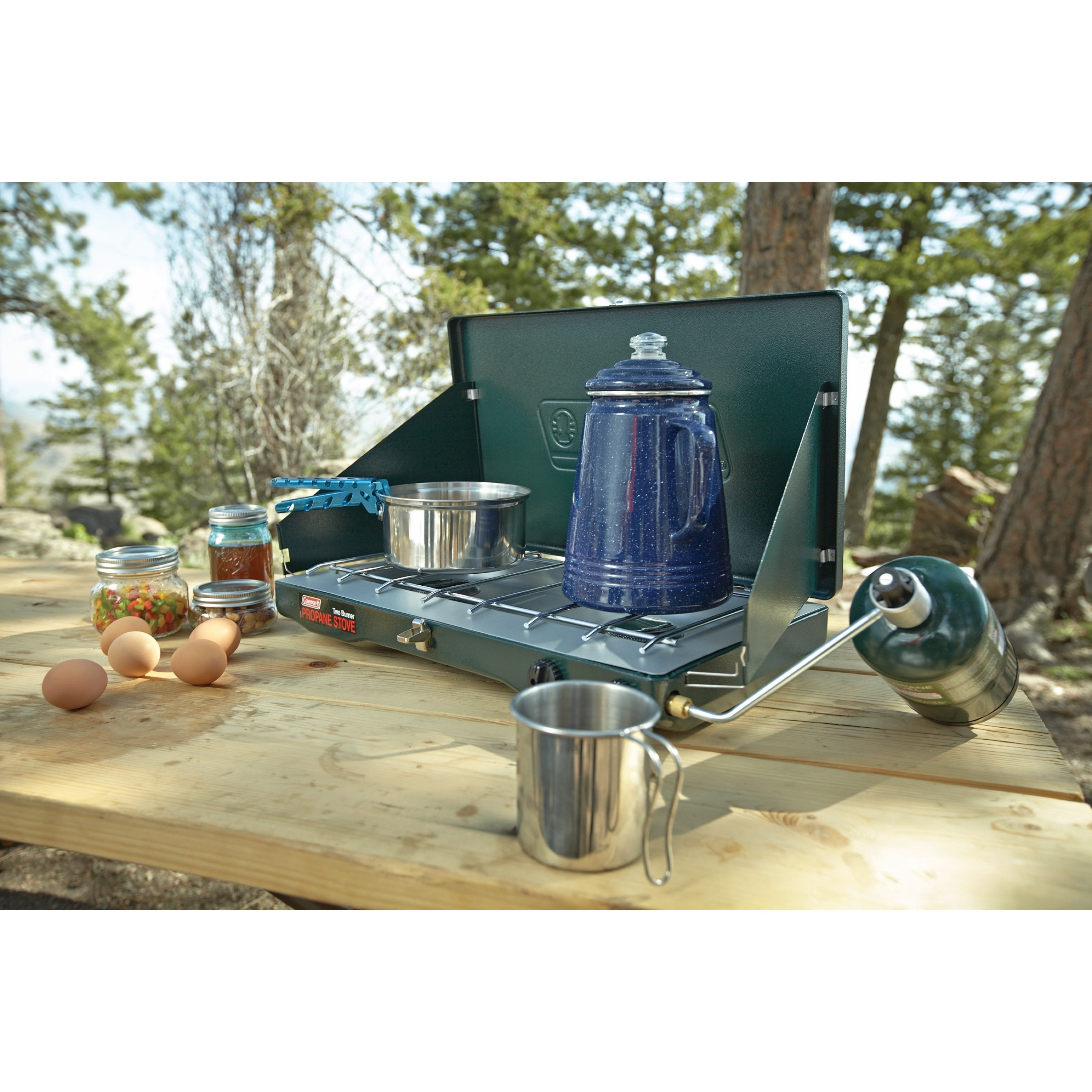 Coleman Gas Camping StoveClassic Propane Stove 2 Burner For Summer BBQ//Cook