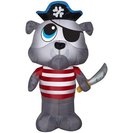 Halloween Airblown Inflatable Bulldog Pirate 4FT Tall by Gemmy Industries](Pirate Halloween Sayings)