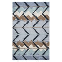 Rizzy Home Blue/Light Blue Rug In Wool 2' x 3'