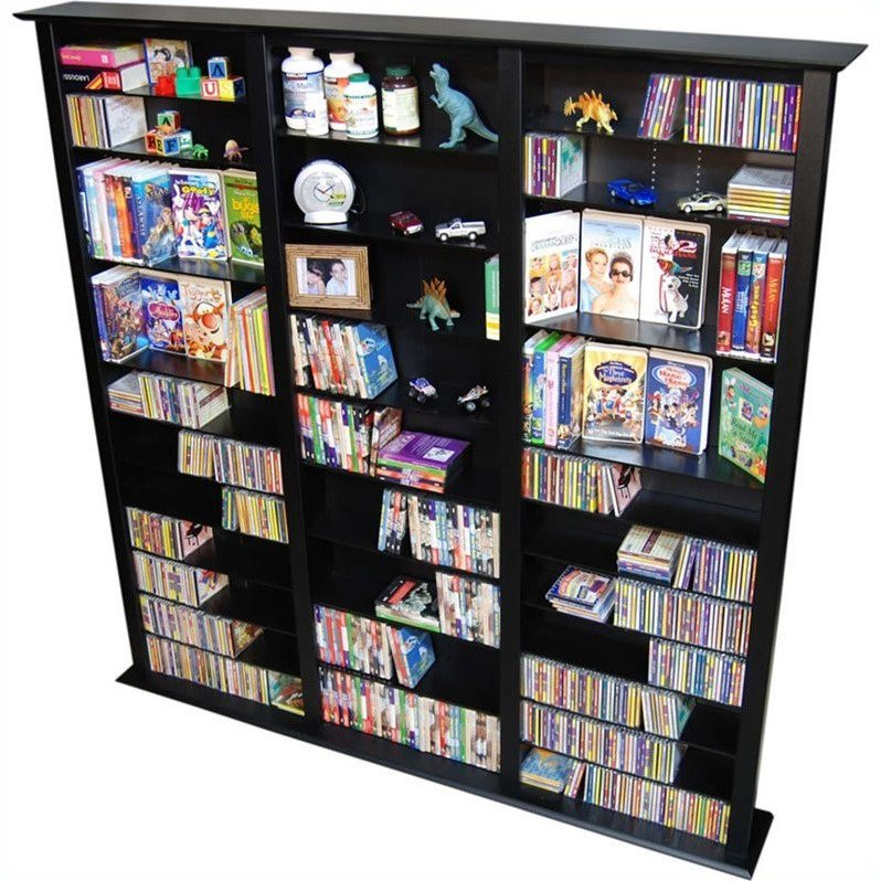 "Venture Horizon Triple 76"" Tall CD DVD Wall Media Storage Rack by Venture Horizon"